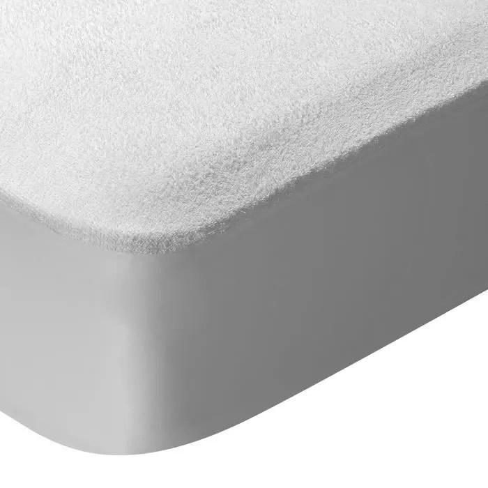 protege matelas en tissu eponge impermeable et res