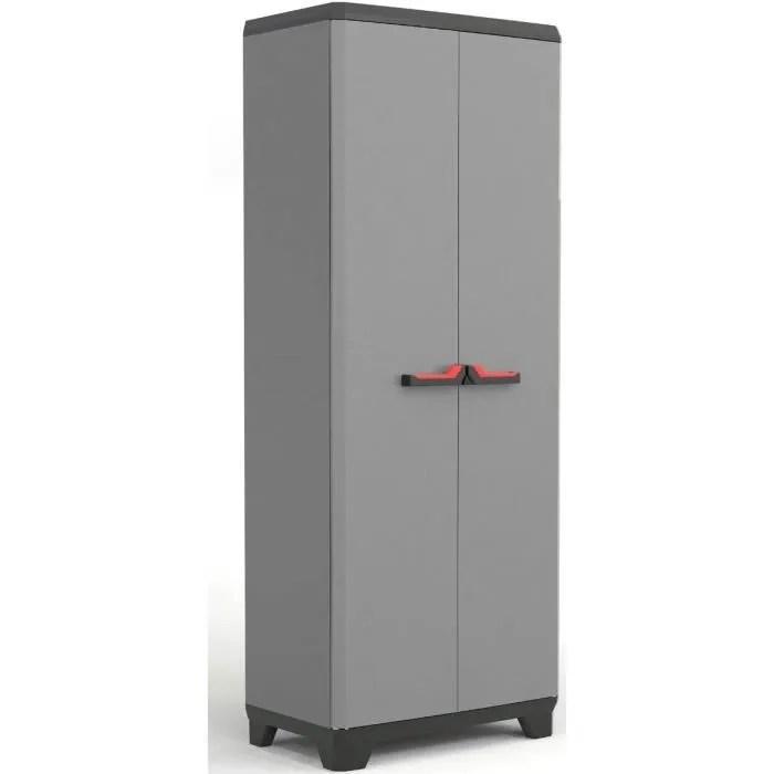 stilo armoire resine plastique gris taille unique