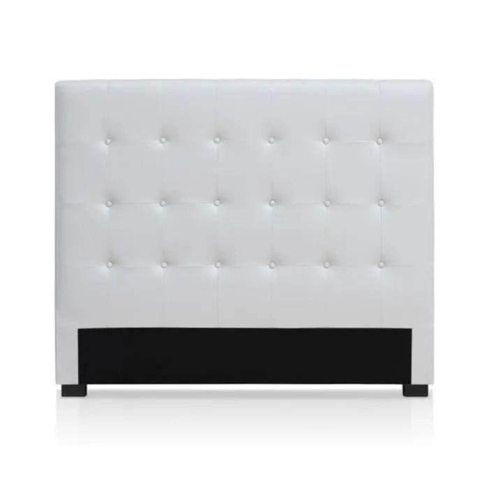tete de lit capitonnee amor 140cm blanc paris prix