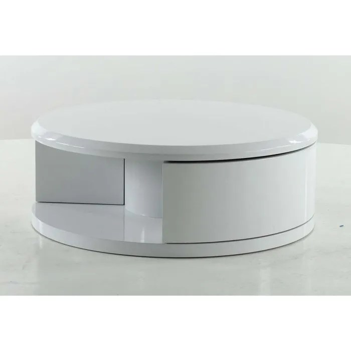 table basse ronde blanche achat