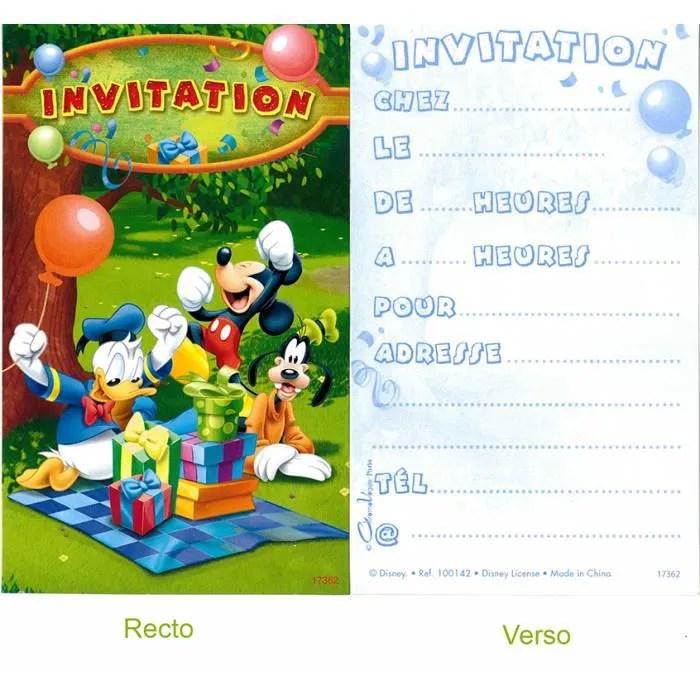 carte invitation mickey