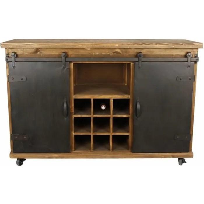 bahut de cuisine meuble de rangement buffet vinoth