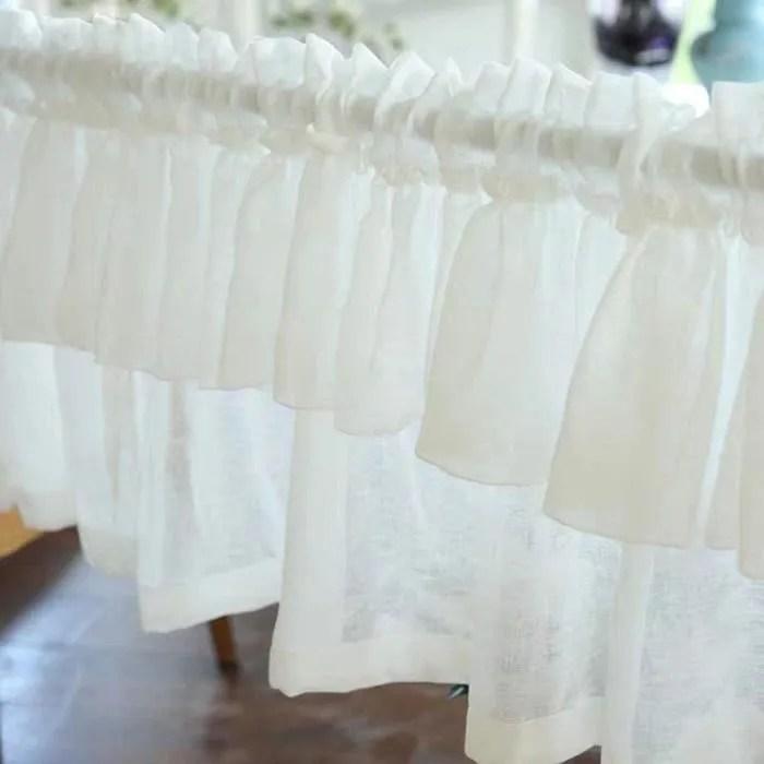 rideaux voilage de coton blanc petite largeur