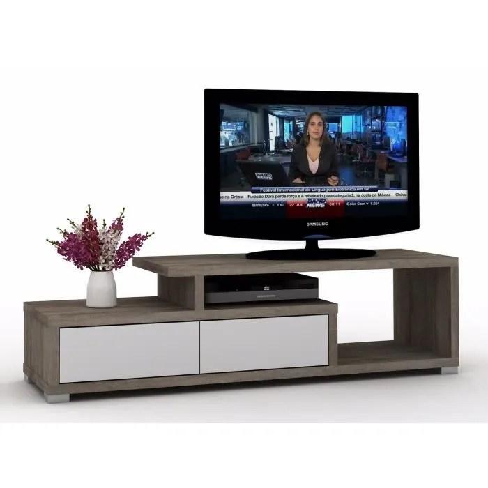 meuble tv design luego blanc et chene