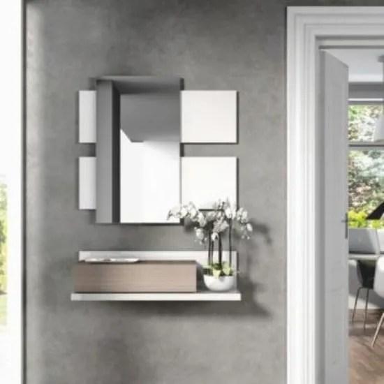 miroir et console murale blanche d