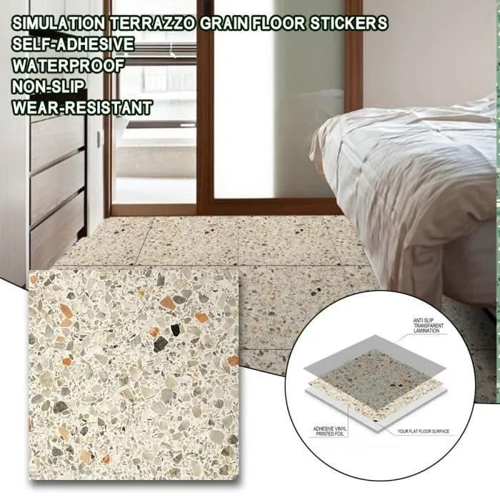 autocollant mural de sol de carrelage auto adhesif pvc impermeable anti derapant bricolage decor a la maison cue200605001i moll