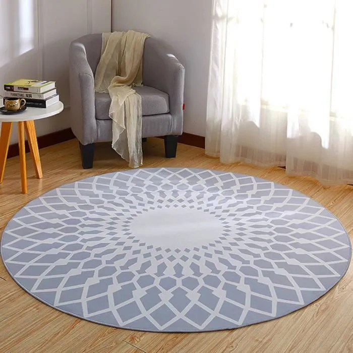 tapis rond salon chambre f180cm grand tapis simple