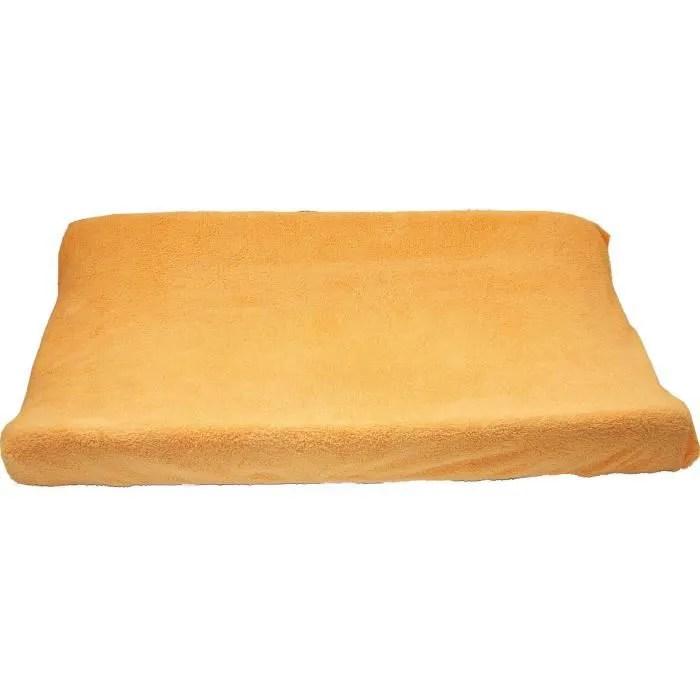 housse pour matelas et pour table a langer 80 x 50 cm d eponge orange