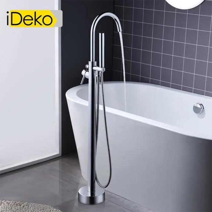 ideko robinet de baignoire ilot sur pied salle de