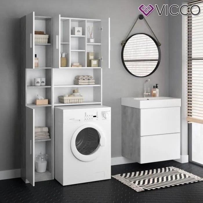 armoire vicco luis meuble d appoint pour meuble de machine a laver armoire de salle de bain armoire haute