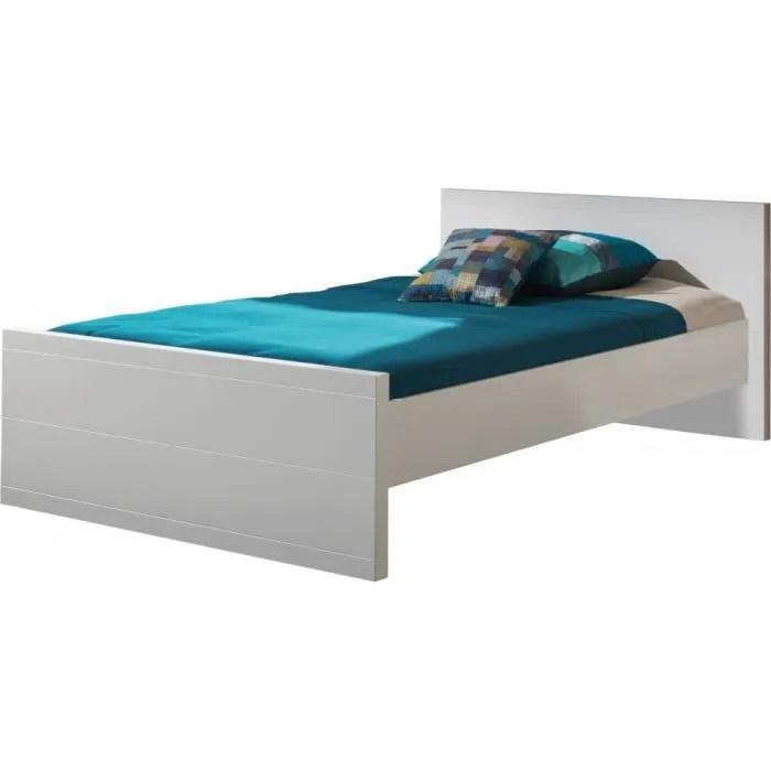 lit enfant laque blanc 120x200 lara