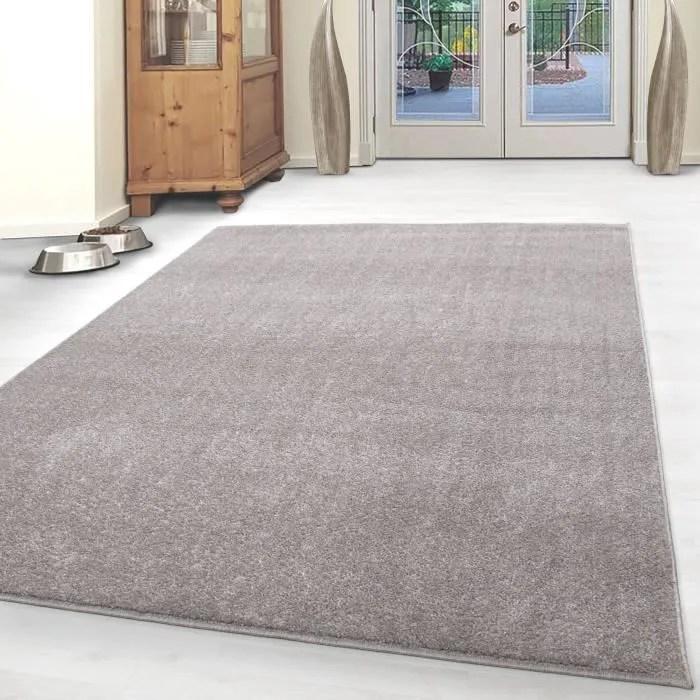 tapis monotone pas cher tapis gabbeh optique salon beige marbre 80x150 cm