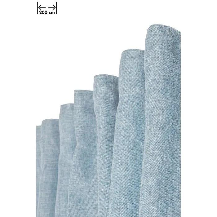 rideau effet chine 200 x 270 cm grande largeur et