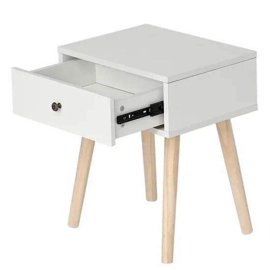 miss pas cher scandinaves table de chevet meuble rangement blanc hauteur 50 cmavec tiroir coulissant