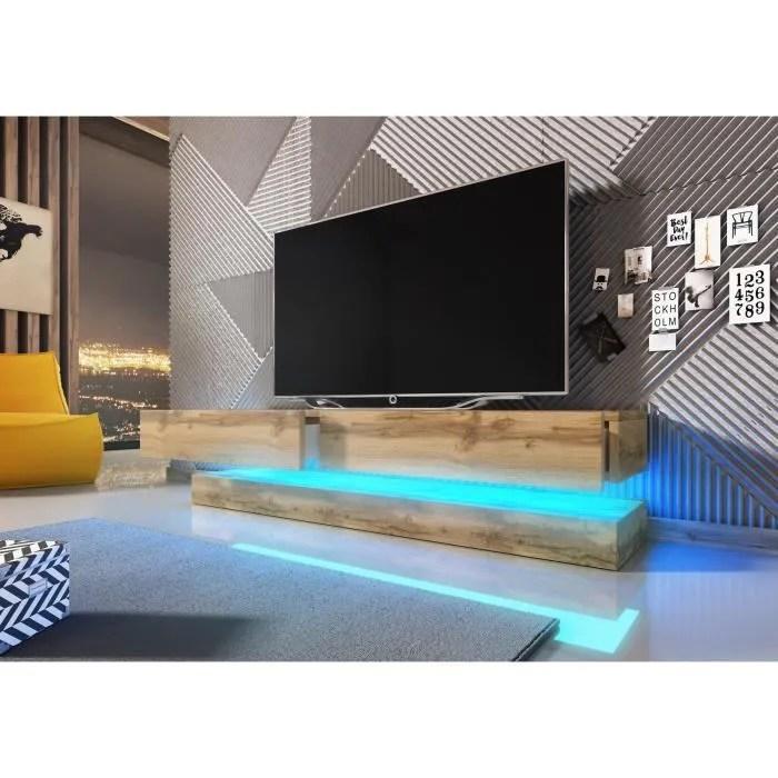 vivaldi meuble tv fly 140 cm chene wotan ave