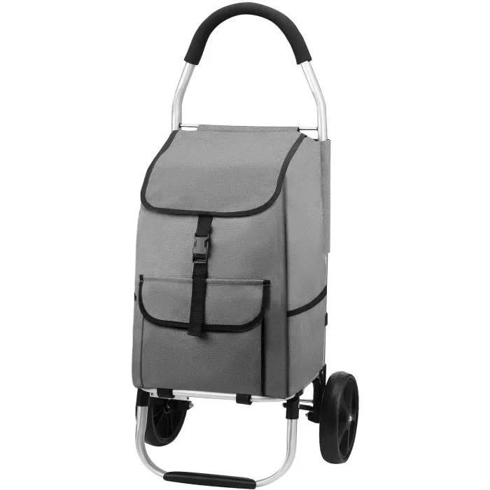 mfavour 45l poussette de marche pliable chariot de courses caddie a 2 roues grands resistant a l eau