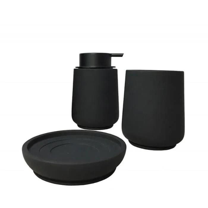 set 3 accessoires salle de bain en