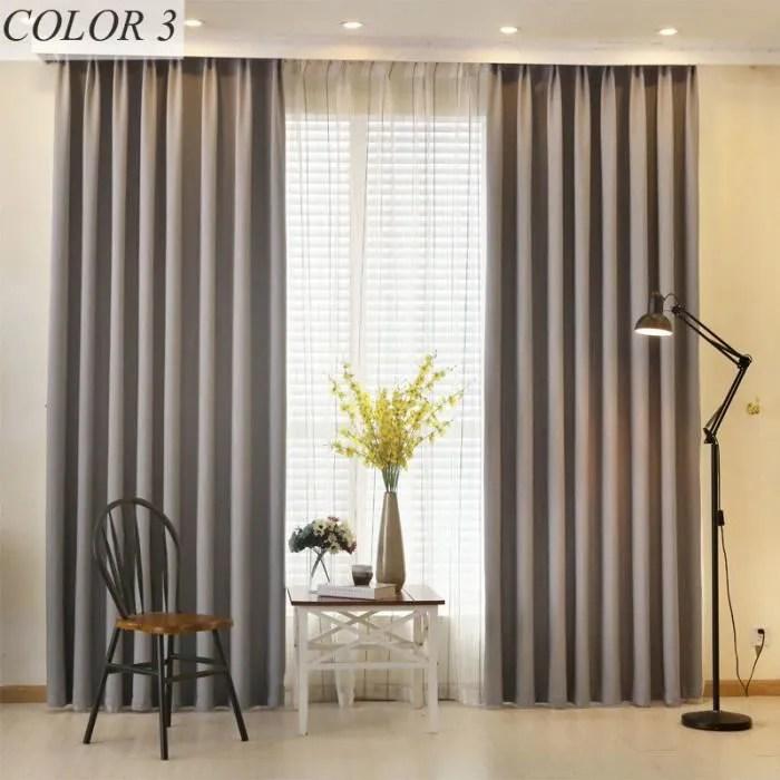 double rideaux occultants 140x220cm gris chambre s