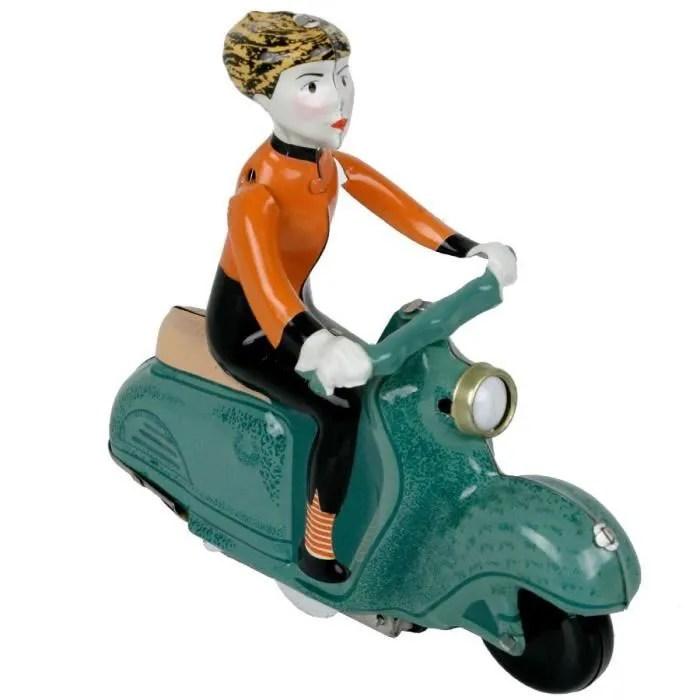 jouet mecanique scooter girl jouet en metal pour collectionner