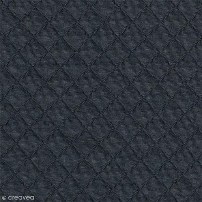 tissu jersey matelasse france duval stalla par 10 cm sur mesure gris fonce