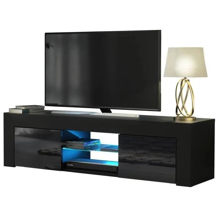 meuble tv led noir
