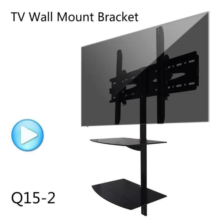 support tv mural avec etageres reglable