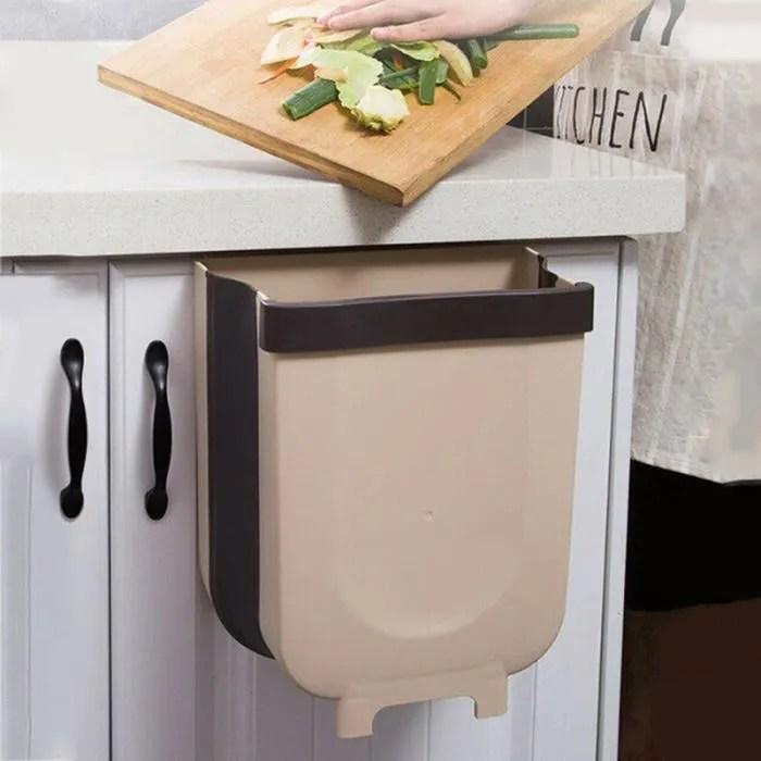poubelle pliante fixee au mur de poubelle de cuisine pour voiture salle de bains