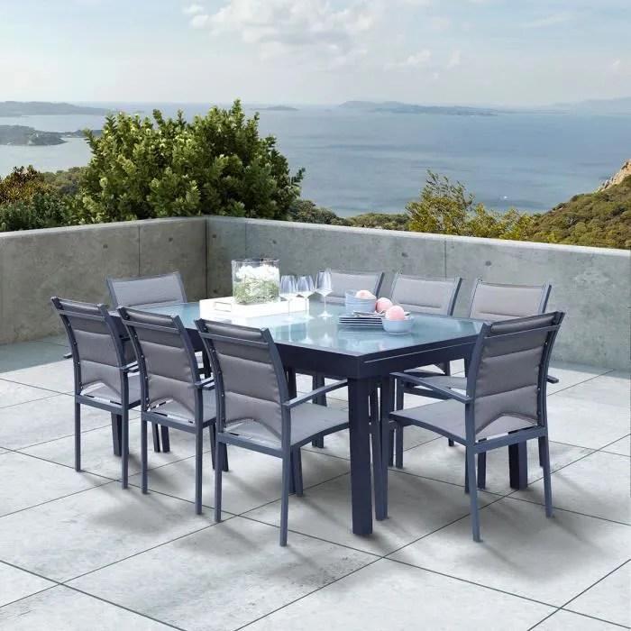 salon de jardin extensible aluminium 8
