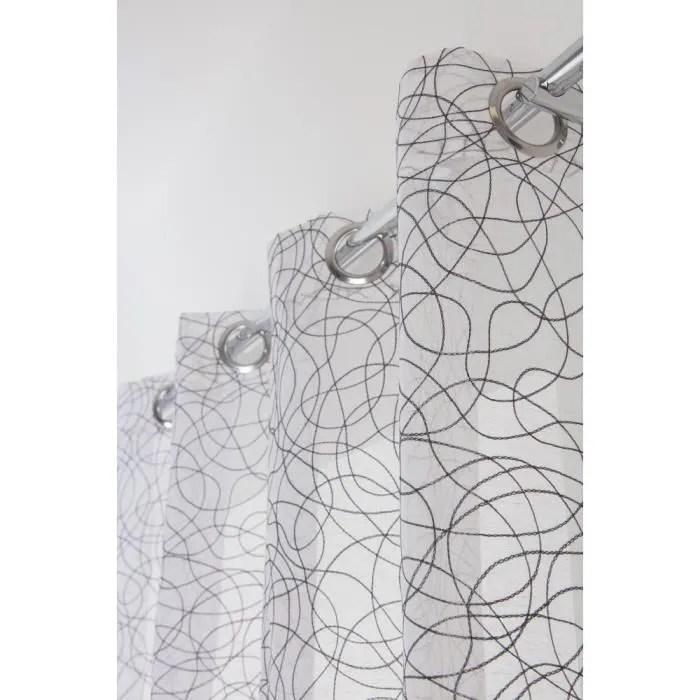 rideau voilage contemporain grande hauteur 140 x 2