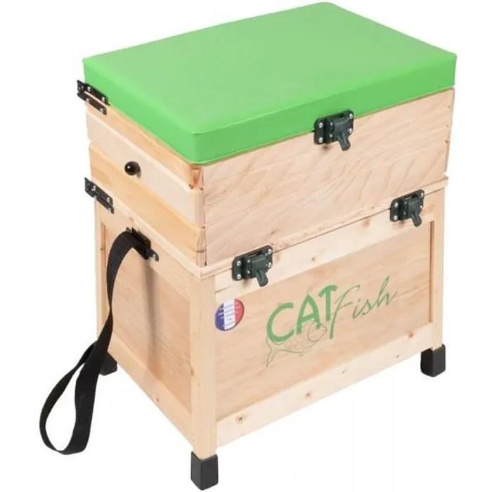 siege peche et casier en bois b3t multicolore