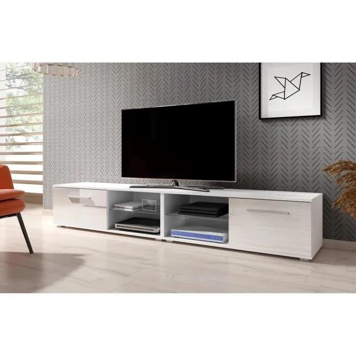 meubles generic meuble tv blanc 120 x