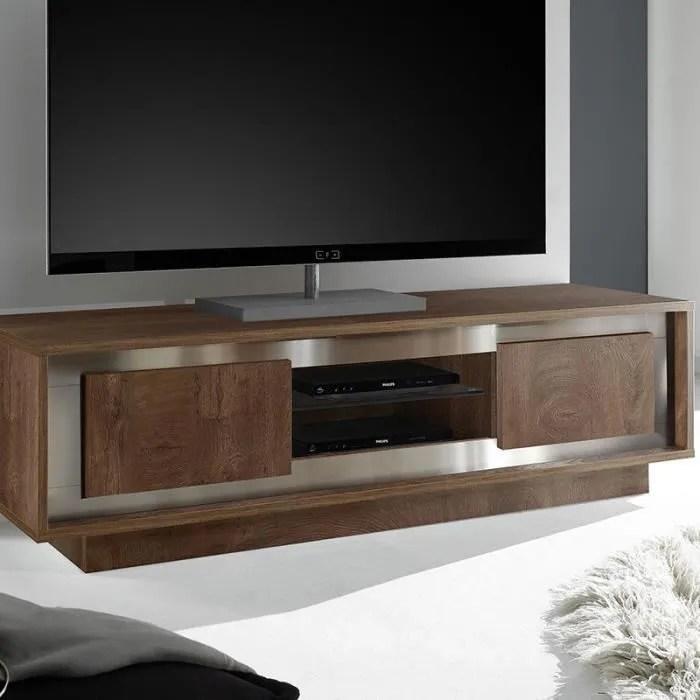 meuble tv moderne couleur noyer erine