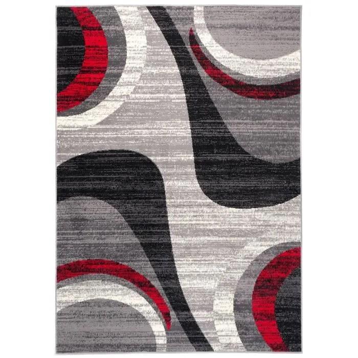 tapiso dream tapis de salon design moderne gris ro