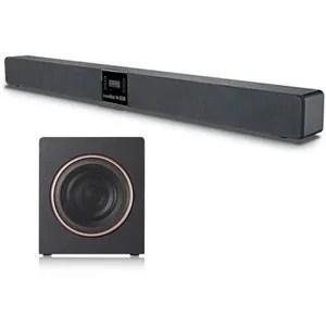 meuble tv avec barre de son integre