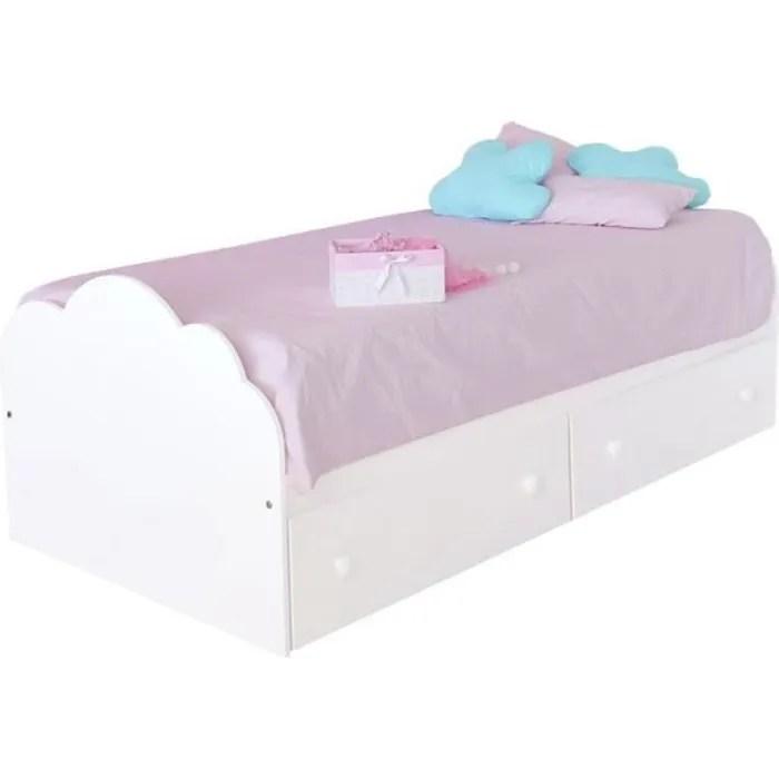 bainba lit enfant avec rangement nuage 90 x 190 cm