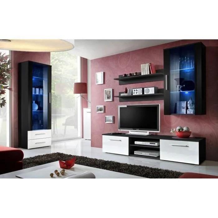 ensemble pour salon design galino noir et blanc meuble moderne pour votre salon