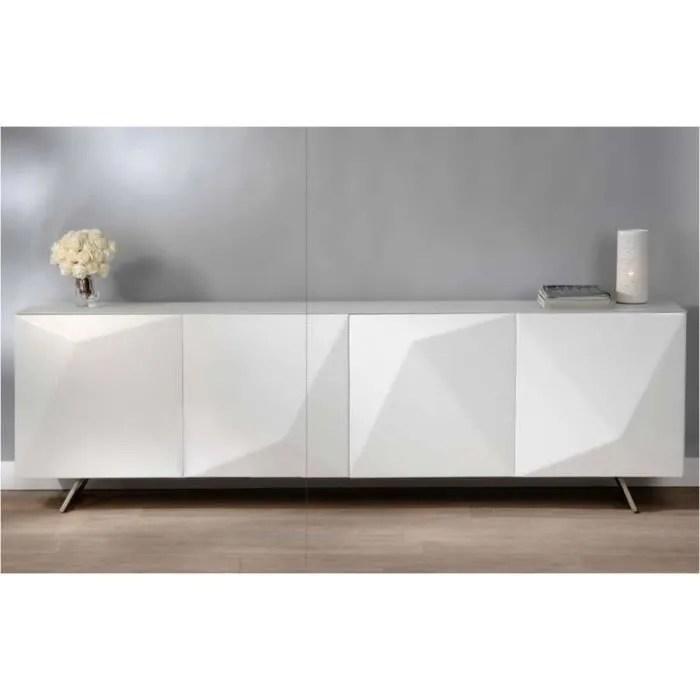 grand buffet laque blanc design amadeus