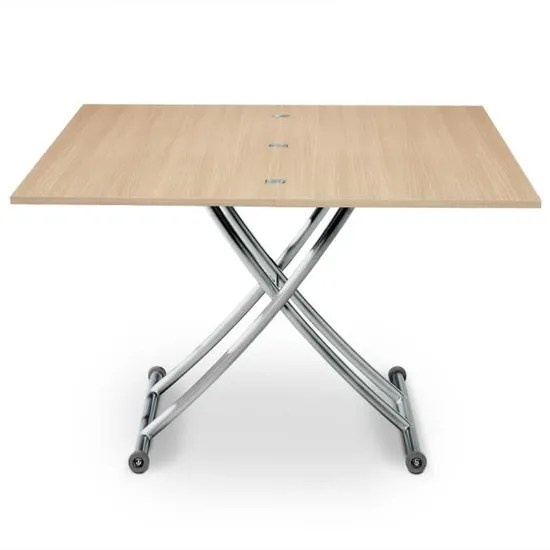 table basse relevable carrera chene clair