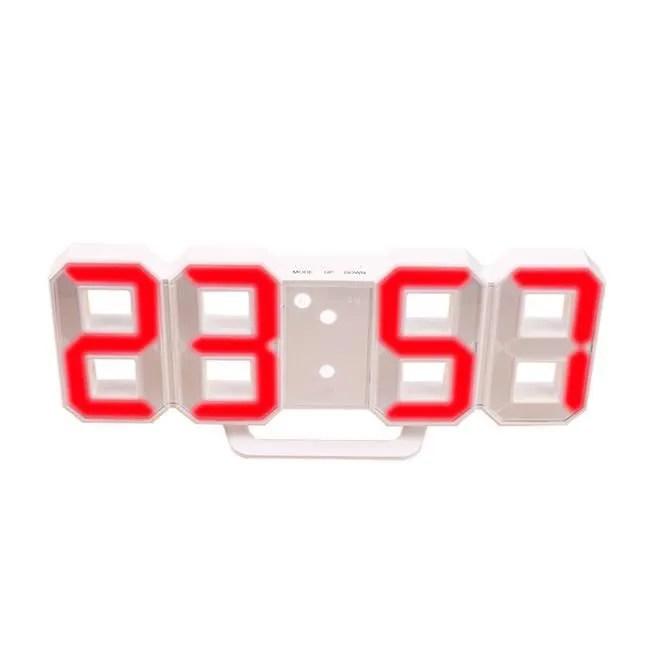 Horloge Murale Led Horloge Numerique Murale 3d Rouge Achat Vente Horloge Pendule Cdiscount