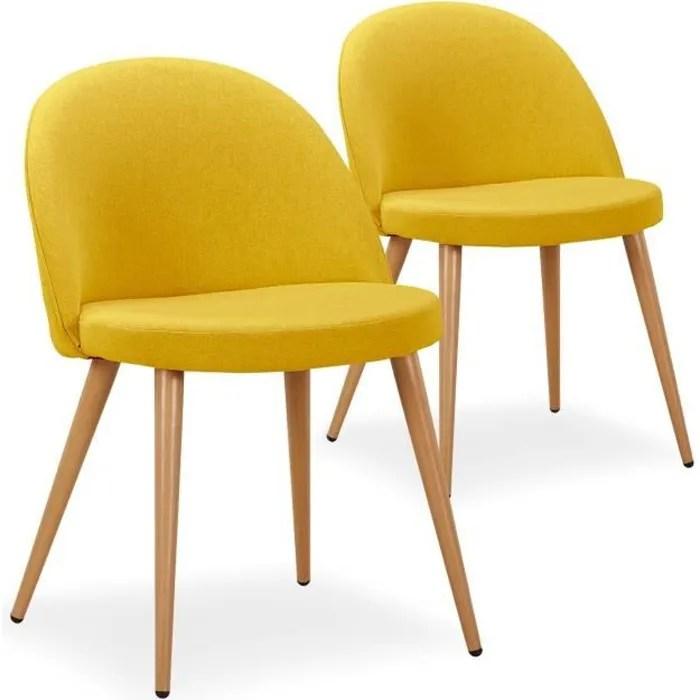 jaune blanc lot de 2 chaise pliante