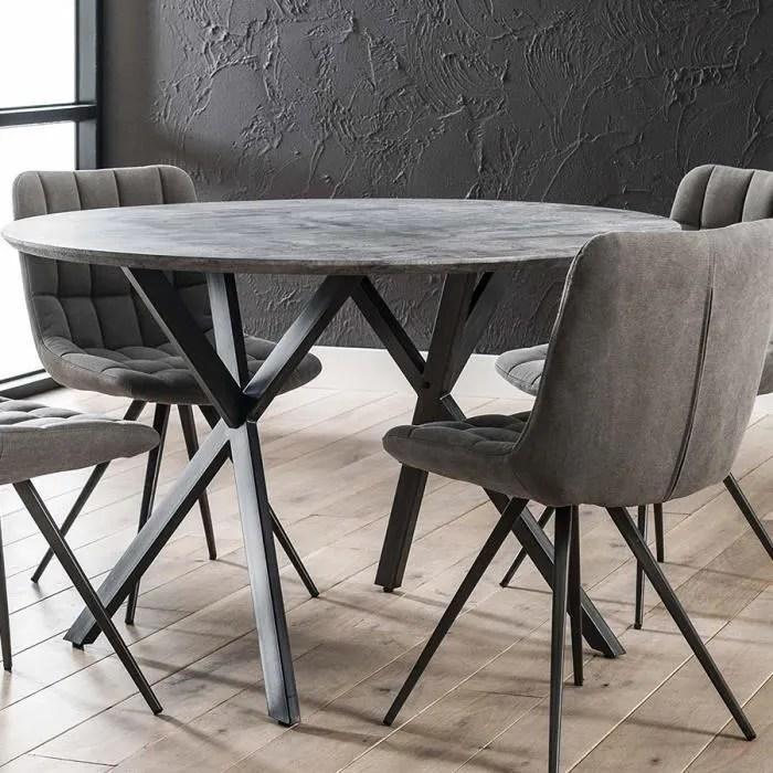 table ronde moderne couleur beton nine blanc