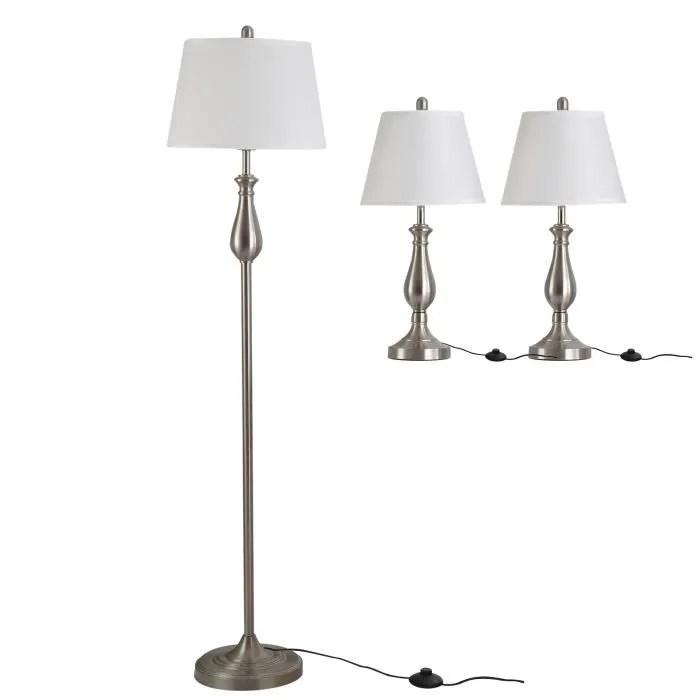 lot de 3 luminaires design contemporain