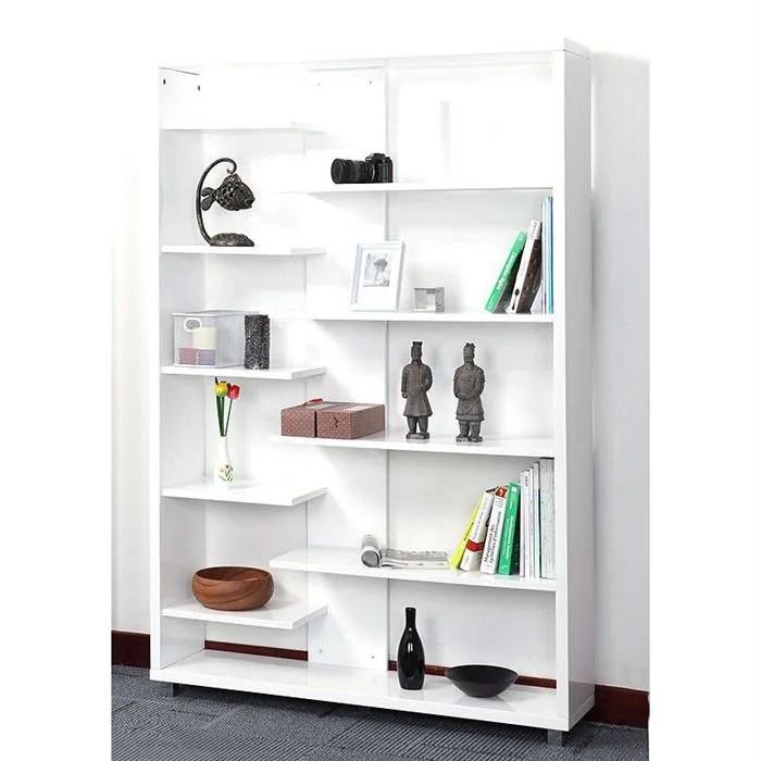 bibliotheque design laquee blanche vixy