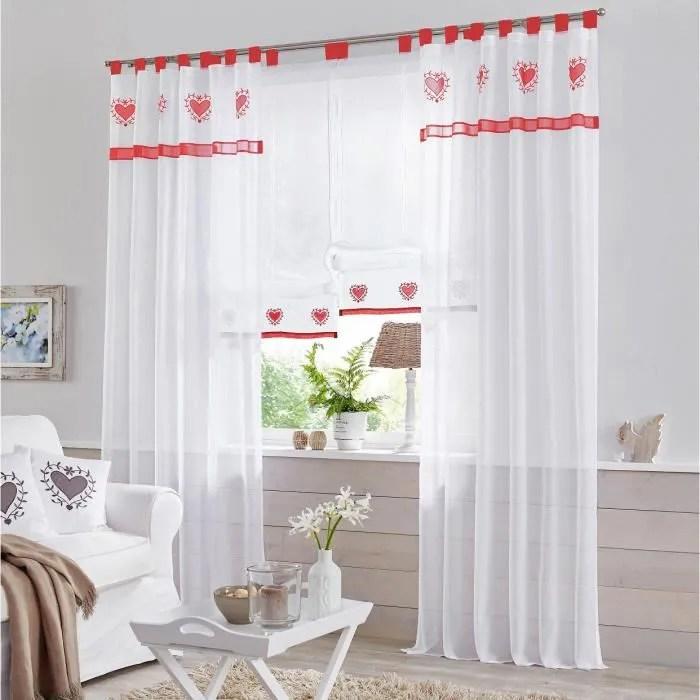 1 piece rideau voilage transparent a pattes lxh 14