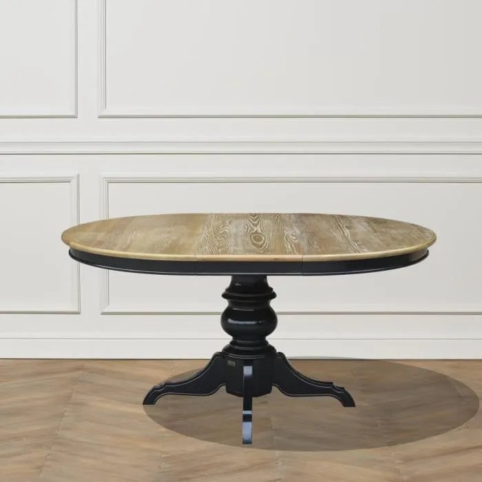 table ronde extensible 6 a 8 couverts