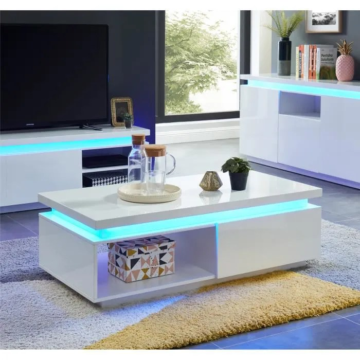 cosmos table basse a led contemporaine