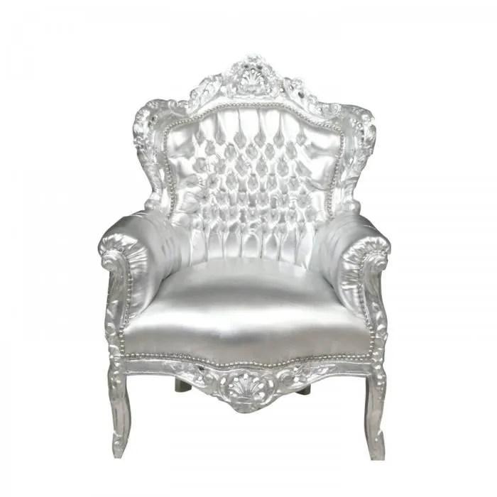 fauteuil baroque argente achat