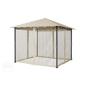 tonnelle de jardin avec rideaux et moustiquaire 3x3