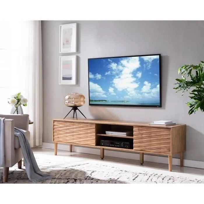 meuble tv chene l 180 cm gio
