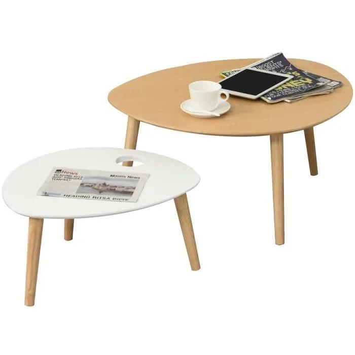 table basse bois clair